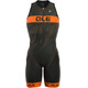 Alé Cycling Triathlon Long Record Herrer Front Zipper orange/sort